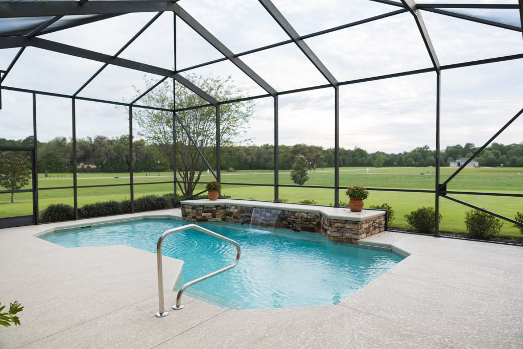 Windemere - Back Porch with Pool - Curington Homes - Ocala Florida Contractor