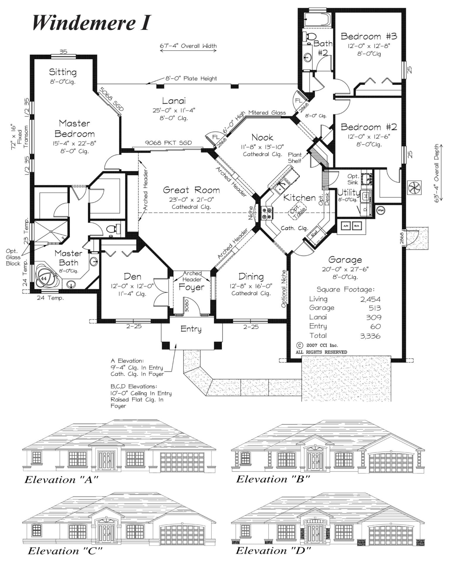 Windemere I - Floor Plan - Curington Homes - Contractor Building in Ocala Florida