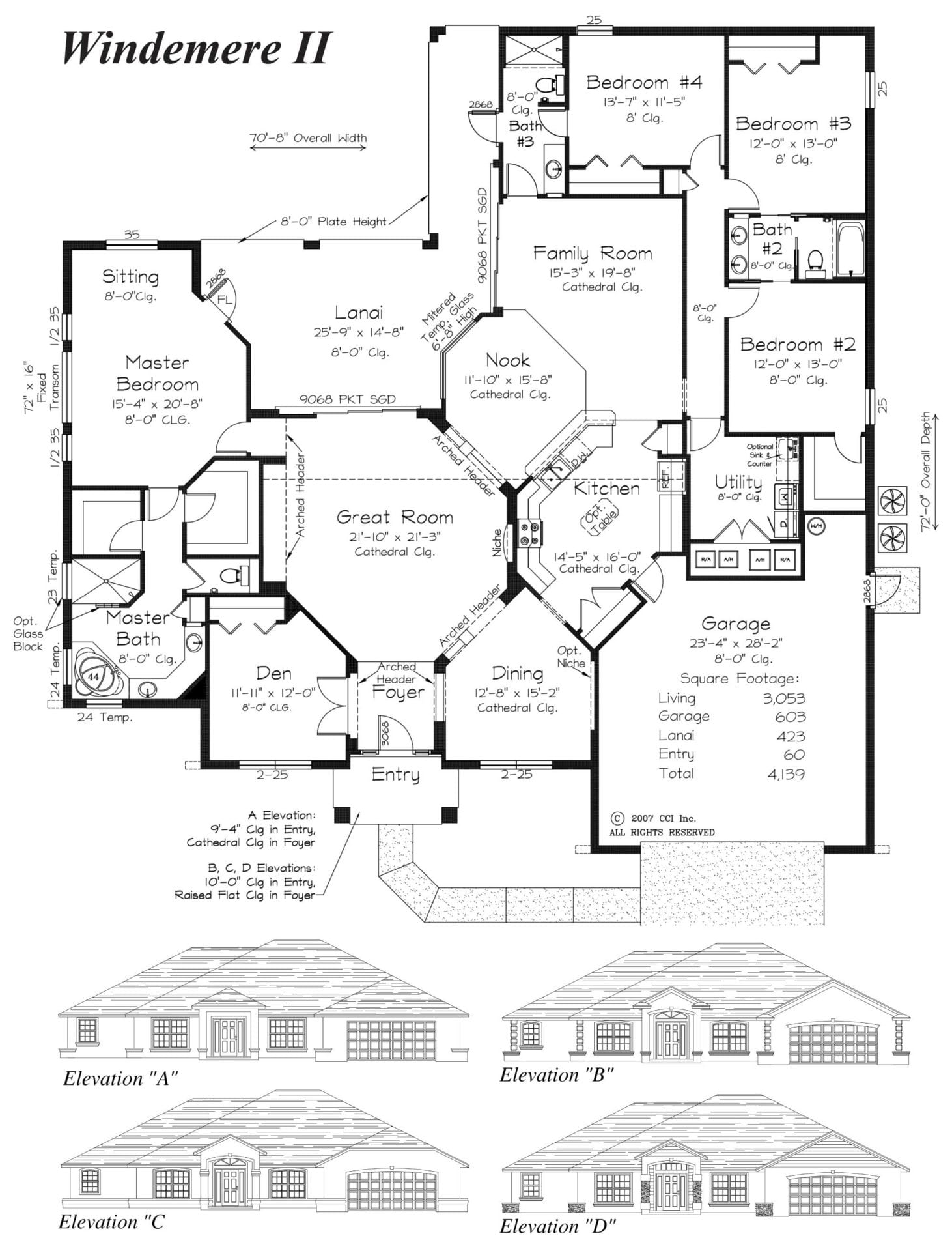 Windemere II - Floor Plan - Curington Homes - Contractor Building in Ocala Florida