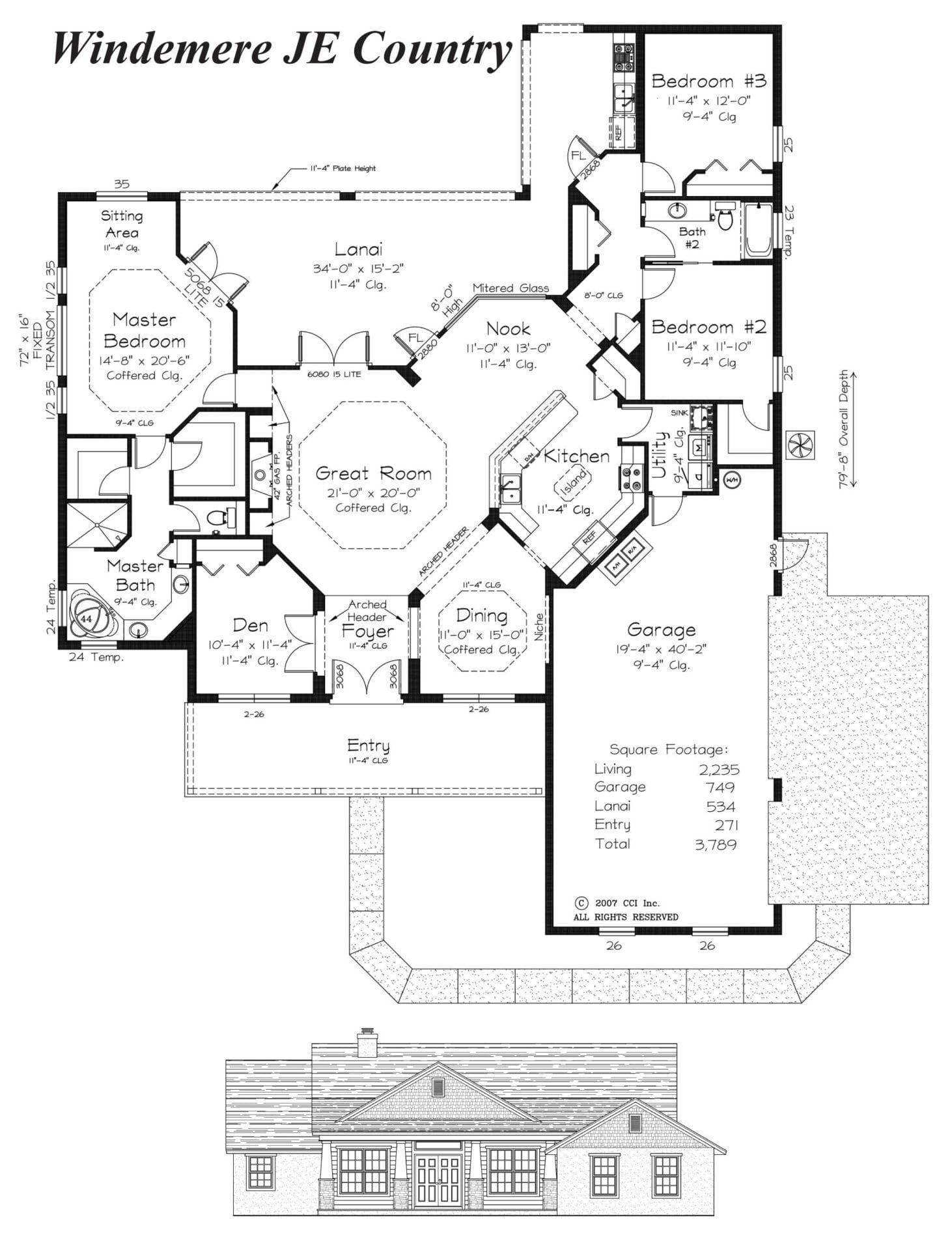 Windemere JE Country - Floor Plan - Curington Homes - Contractor Building in Ocala Florida