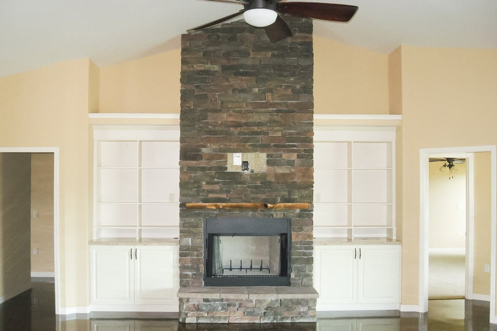 Drifton - Living Room Fireplace - Curington Homes - Ocala Florida Contractor