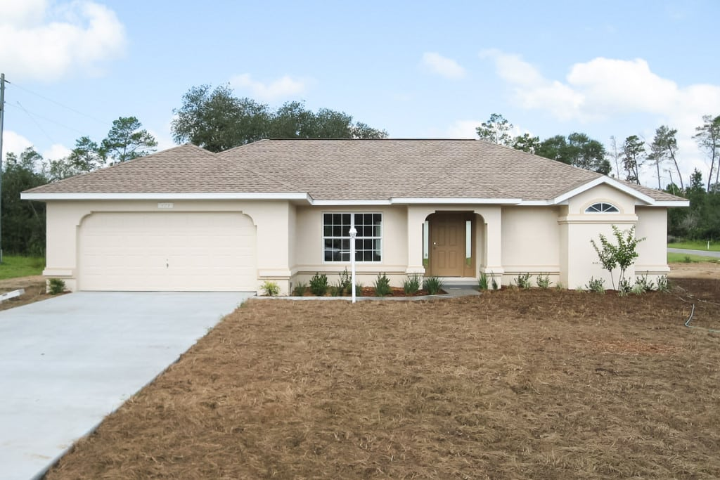 Hawthorne - Front Exterior - Curington Homes - Ocala Florida Contractor