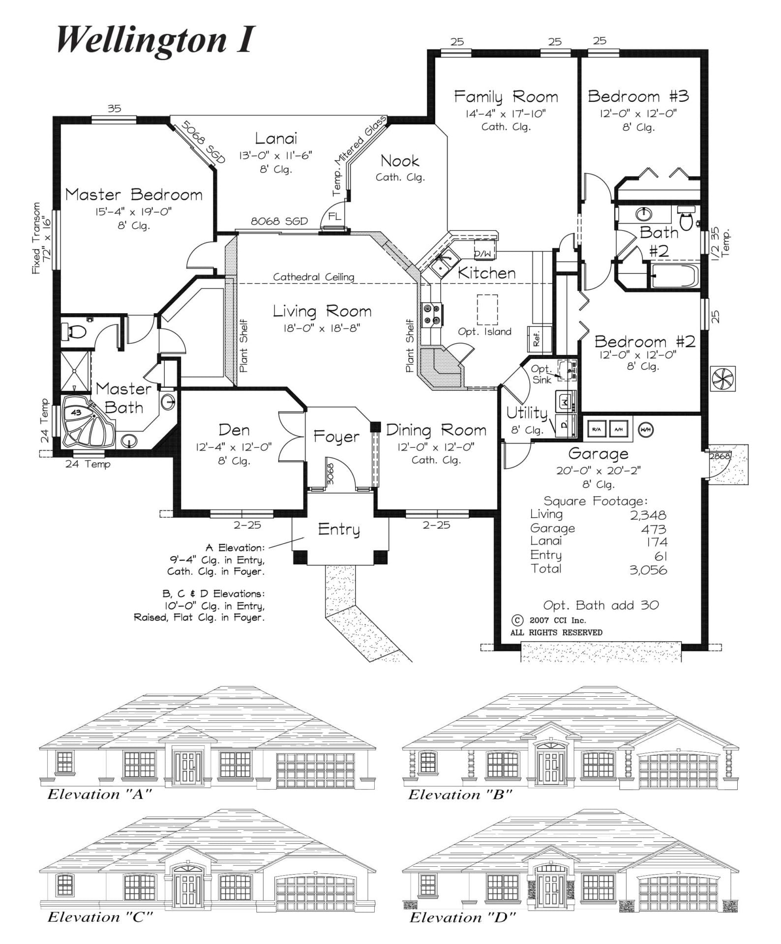 Wellington I Floor Plan - Curington Homes - Ocala Florida Contractor