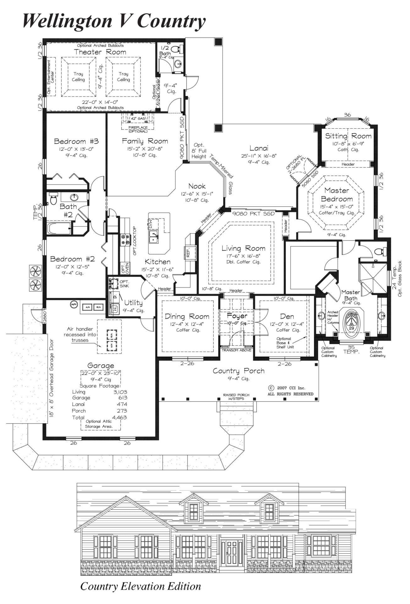Wellington V Floor Plan - Curington Homes - Ocala Florida Contractor