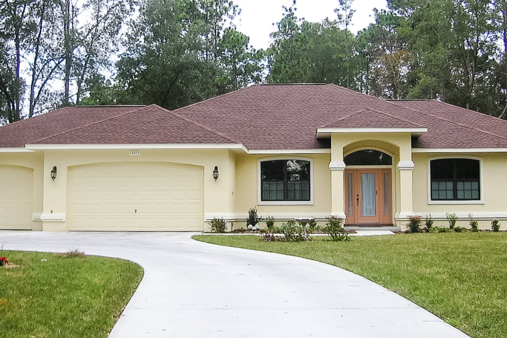 Wellington - Front Exterior - Curington Homes - Ocala Florida Contractor
