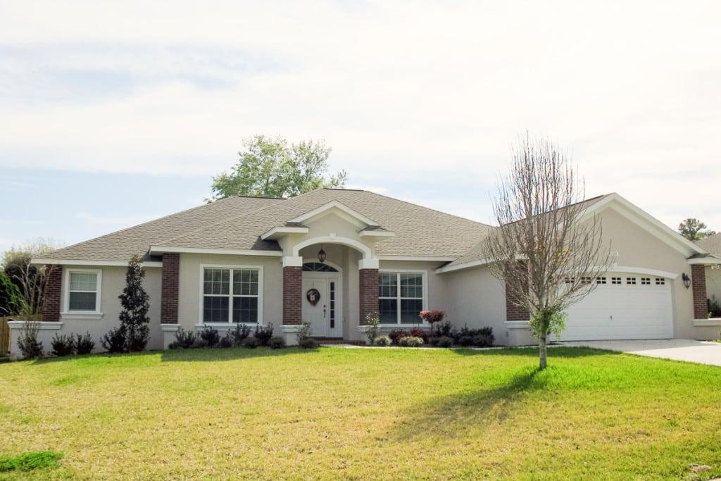 Wellington - Front Exterior - Curington Homes - Ocala Florida Contractor