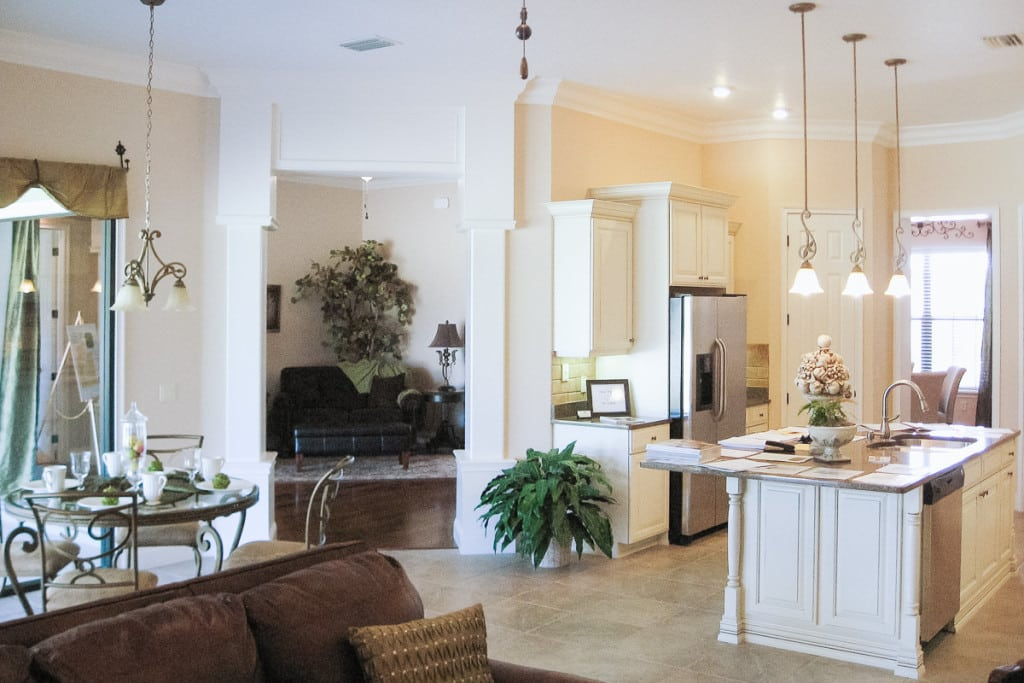 Wellington - Kitchen and Living Room - Curington Homes - Ocala Florida Contractor