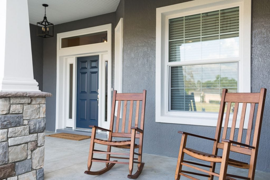 Curington Homes - Ocala Florida Home Builder - Sebastian Model Summerset Estates - Front Porch Exterior