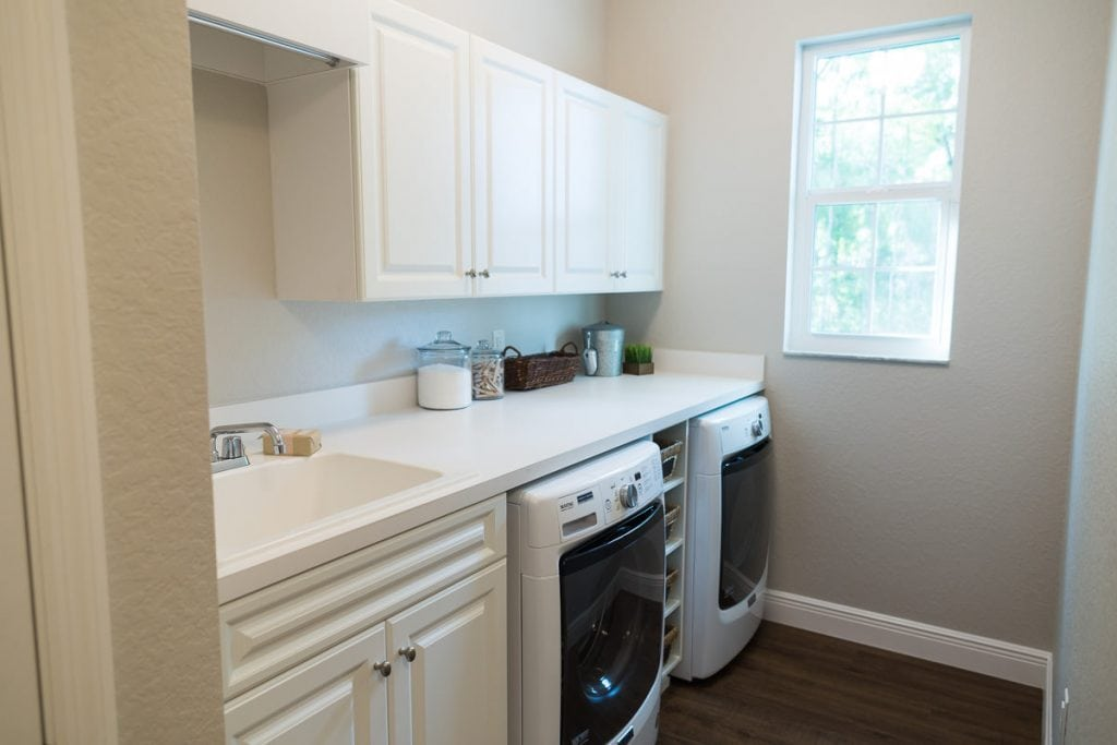 Curington Homes - Ocala Florida Home Builder - Sebastian Model Summerset Estates - Laundry Room