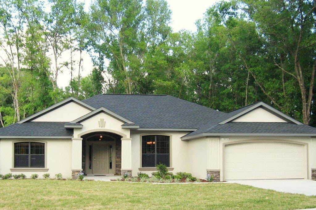 Jamestown - Front Exterior - Curington Homes - Ocala Florida Contractor
