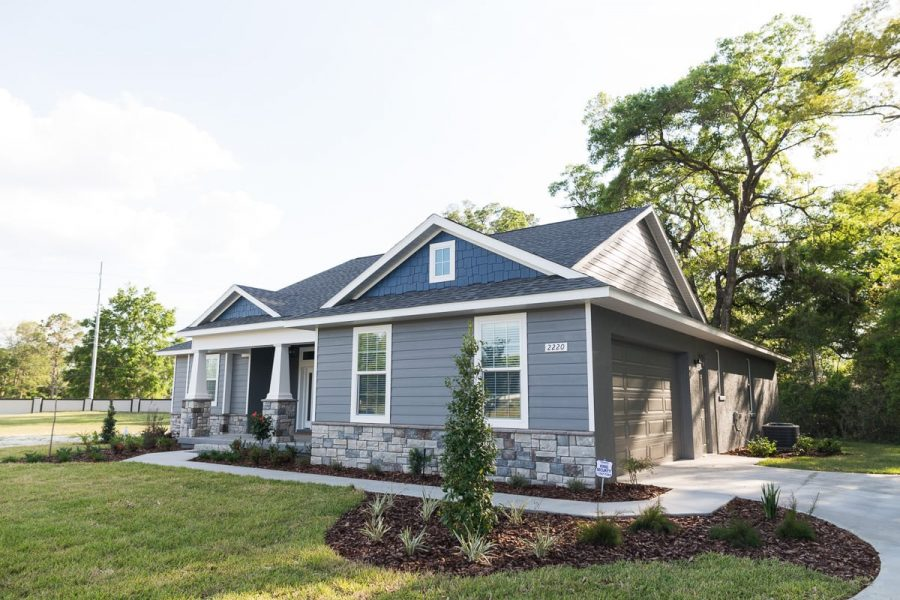 Curington Homes - Ocala Florida Home Builder - Sebastian Model Summerset Estates - Front Exterior
