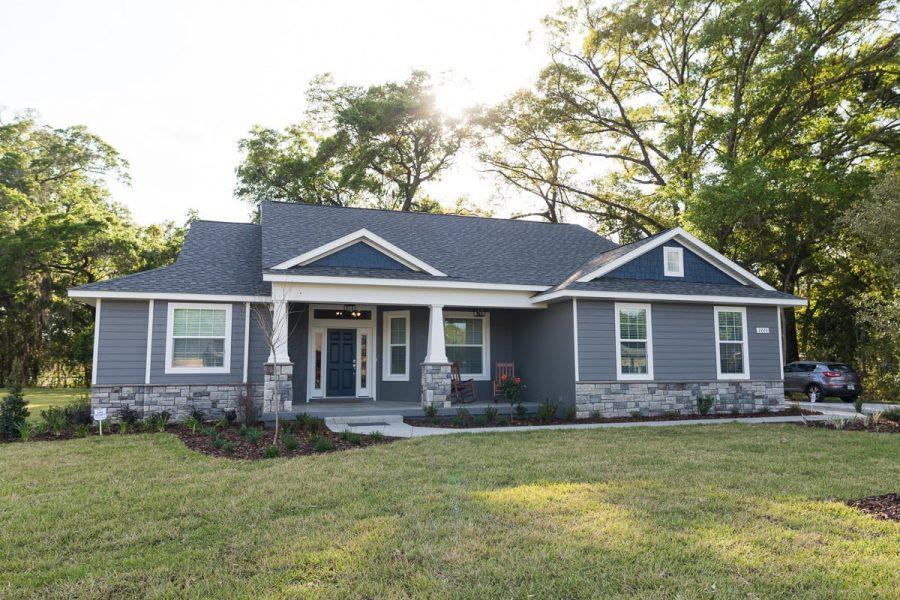 Curington Homes - Ocala Florida Home Builder - Sebastian Model Summerset Estates - Front Exterior