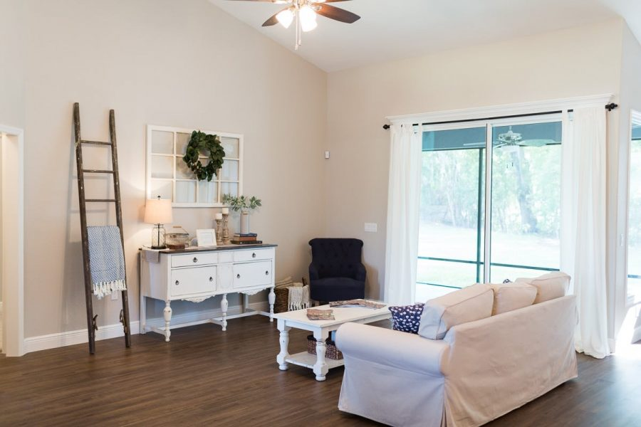 Curington Homes - Ocala Florida Home Builder - Sebastian Model Summerset Estates - Living Room