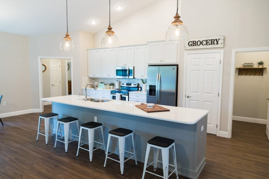 Curington Homes - Ocala Florida Home Builder - Sebastian Model Summerset Estates - Kitchen - Living Room